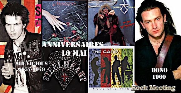 anniv 10 mai sid vicious bono metal church tool twisted sister steelheart ministry keep of kalessin styx anvil enslaved hate eternal novembers doom immolation the cars