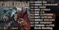 POWERWOLF - AMARANTHE - KISSIN DYNAMITE - Toulouse 10/01/2019 - puis Bordeaux, Lille, Nantes, Rouen, Reims, Nancy, Marseille, Lyon, Strasbourg