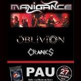 MANIGANCE OBLIVION CRANKS - PAU / Billère - L'Ampli  La Route du Son- 27/01/2018