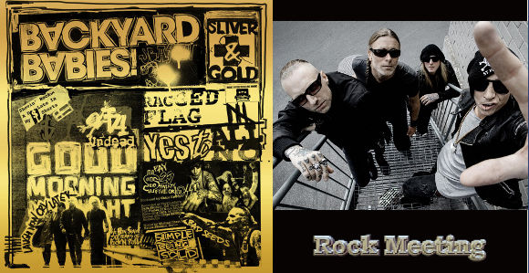 backyard babies sliver and gold