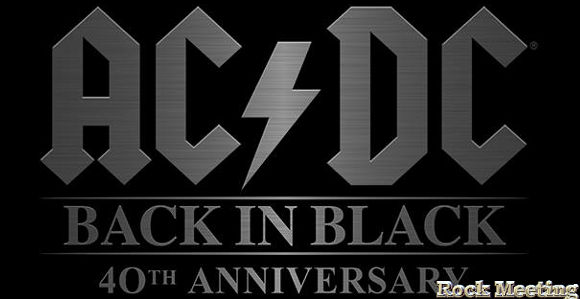 ac dc back in black 40eme anniversaire video