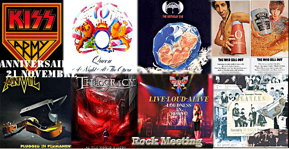 anniversaireas 21 novembre kiss boston led zeppelin queen the who the beatles loudness anvil theocracy stormzone