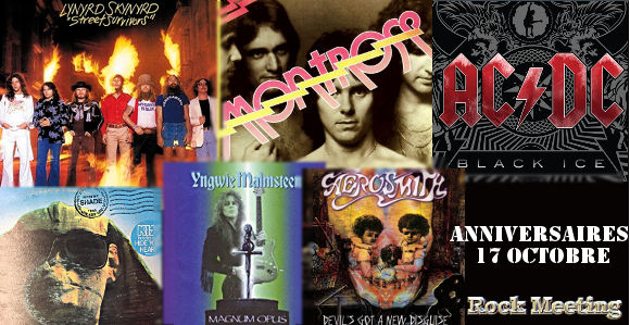 anniversaires 17 octobre savatage lynyrd skynyrd montrose kiss ac dc spinal tap nevermore obituary skyclad cradle of filth iced earth