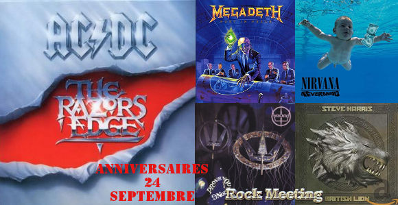 anniversaires 24 septembre ac dc megadeth dokken dream theater metallica slipknot nirvana prong down darkthrone voivod arch enemy marduk dimmu borgir