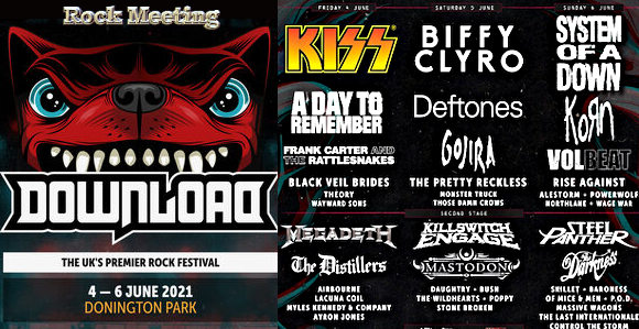 download festival uk 2021 donington park kiss megadeth steel panther killswitch engage sepultura mastodon myles kennedy gojira volbeat korn