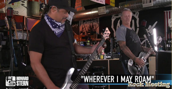 metallica a joue 3 titres au the howard stern show videos