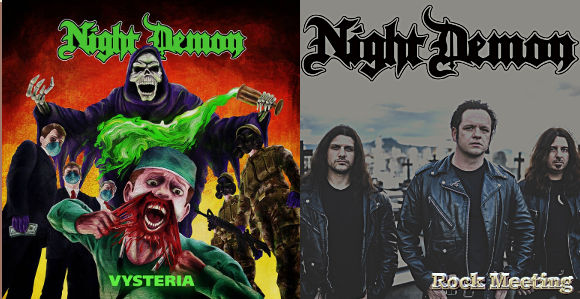 night demon vysteria nouveau single devoile video