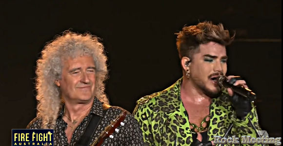 queen la video du concert complet au fire fight australia