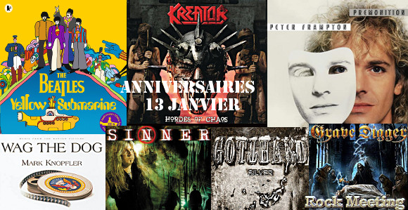 anniv 13 janvier james lomenzo yes bullet for my valentine slaughter poco the beatles peter frampton kreator suicidal angels gotthard sinner the crown