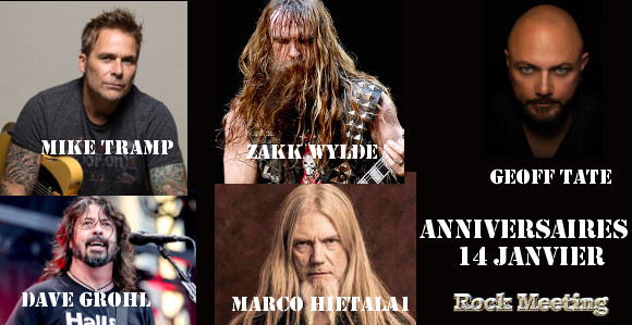 anniv 14 janvier zakk wylde geoff tate mike tramp burning rain nightwish foo fighters pretty maids kittie mastodon lou reed magnum bonfire