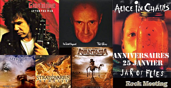 anniv25 janvier riot kittie angra alice in chains gary moore phil collins dimmu borgir avantasia ihsahn stratovarius