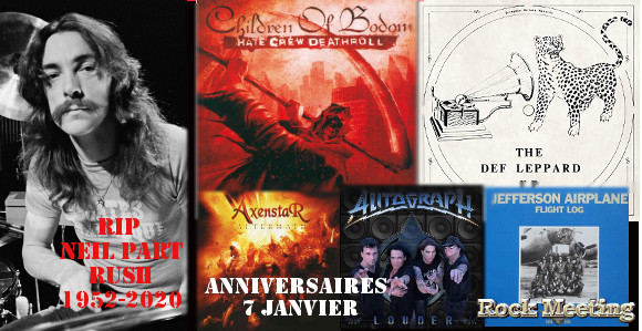 anniversaires 7 janvier children of bodom paradise lost y t five finger death punch def leppard autograph