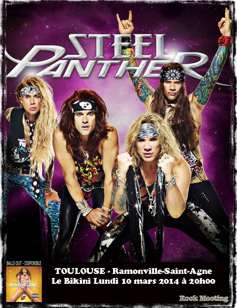 STEEL PANTHER All You Can Eat et Toulouse en 2014