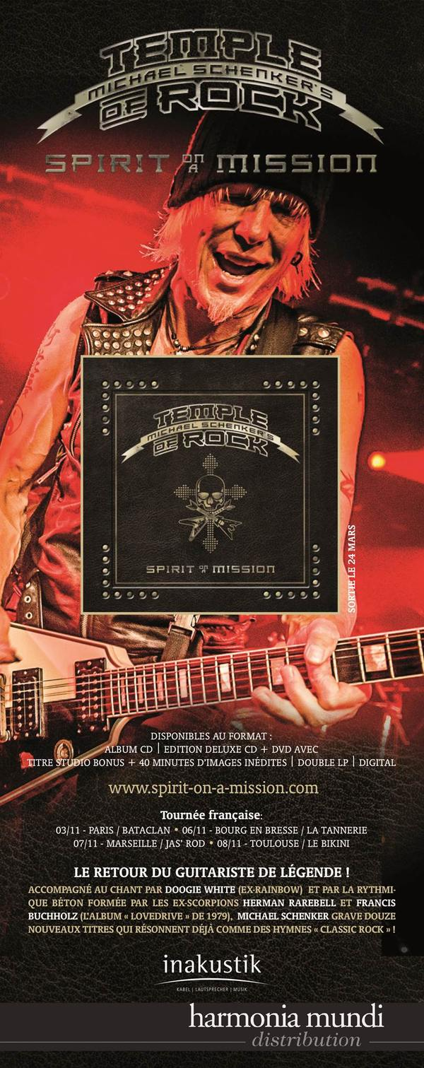 Michael Schenker's Temple Of Rock 2015 Paris Toulouse Marseille Bourg En Bresse