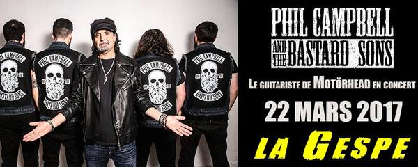 Phil Campbell & the Bastard Sons - La Gespe - Tarbes 22/03/2017
