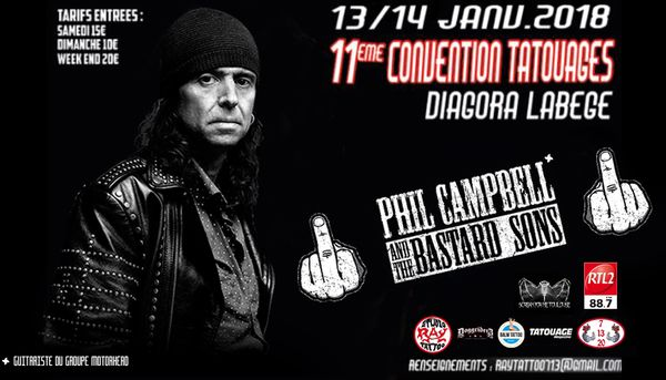 Phil Campbell & The Bastard Sons - Convention du Tatouage de Toulouse