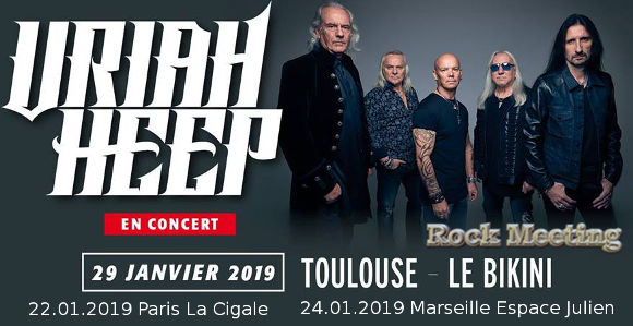 uriah heep france 2019 paris marseille toulouse