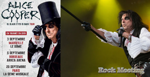 alice cooper maseille bordeaux paris tour 2019