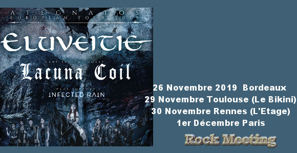 eluveite ategnatos tour toulouse bordeaux rennes paris lacuna coil infected rain 11 2019