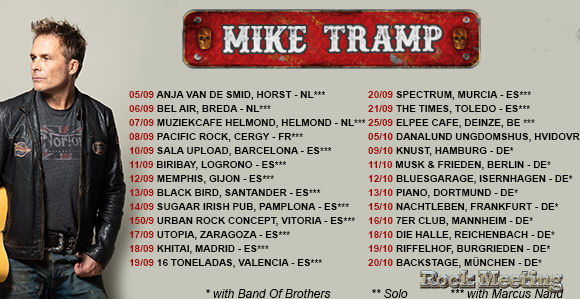 mike tramp best days of my life a pampelune ce 14 septembre apres le forum a vaureal