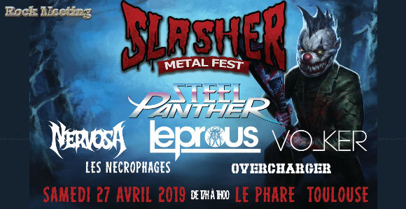 slasher metal fest steel panther leprous toulouse le phare 27 04 2019.jpg