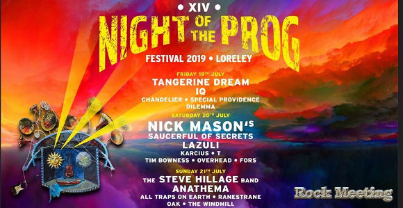 xivth night of the prog festival 2019 st goarshausen loreley allemagne 19 20 21 07 2019
