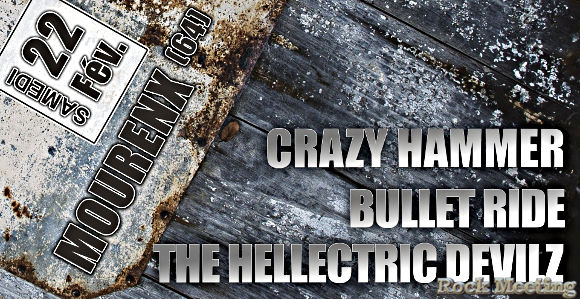 crazy hammer bullet ride the hellectric devilz mourenx salle daniel balavoine 22 02 2020