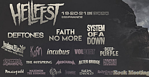 hellfest 2020 system of a down faith no more volbeat judas priest deep purple alter bridge korn opeth du 19 au 21 juin