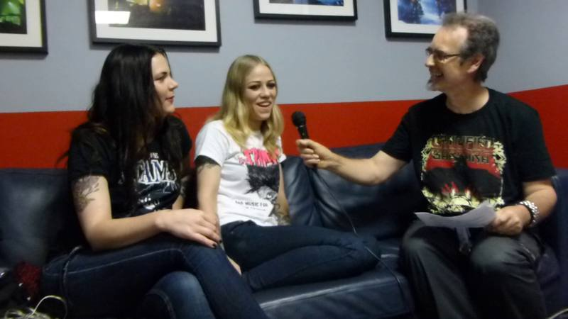 CRUCIFIED BARBARA - Interview Mia Coldheart - Klara Force Pau L'Ampli 17/10/2014