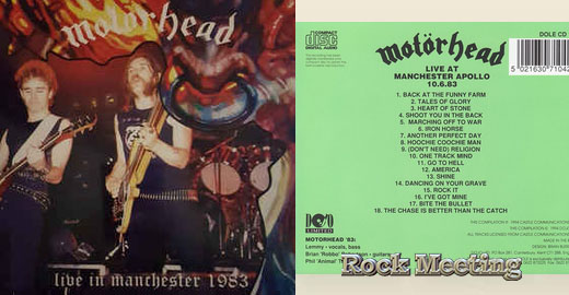 MOTÖRHEAD  Live In Manchester 1983